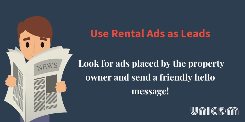 rental property ads as leads
