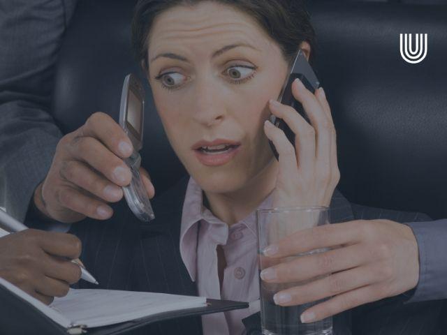 Employee collapsing due to multitasking